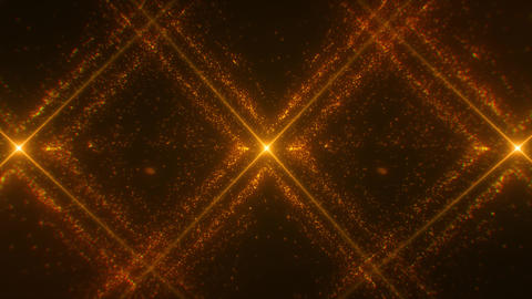 Gold X Particles Grid Loop Motion Graphic Background Animation