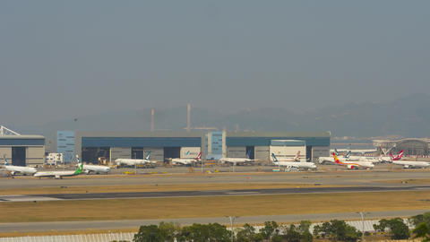 Chek Lap Kok airport, timelapse GIF