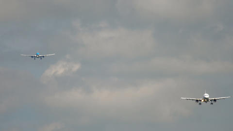 Airplanes approaching before landing GIF