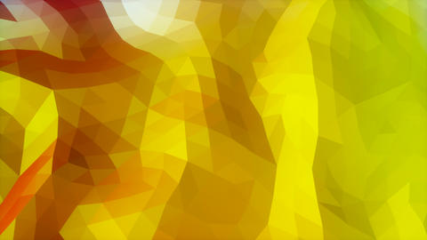 Red to yellow green gradient low poly evolving looping surface Animation