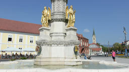 Holy Mary monument in Zagreb Footage