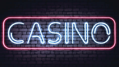 BAR, CASINO and XXX neon signs Stock Video Footage