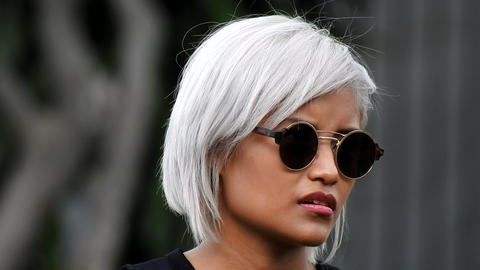 Young Woman Wearing Sunglasses Footage