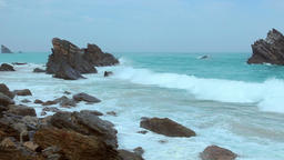 Rocks and Ocean Surf Footage