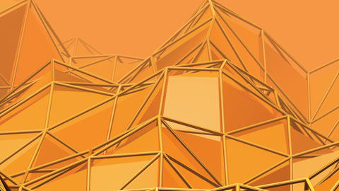 Abstract golden triangle background (loop) Animation