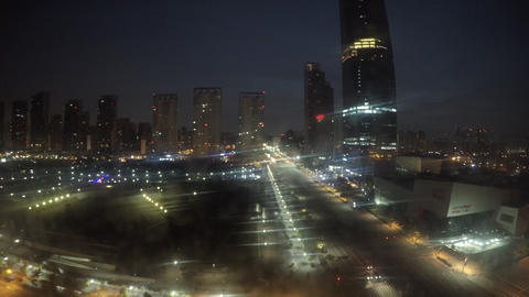 Dawn of Songdo(4K) Footage