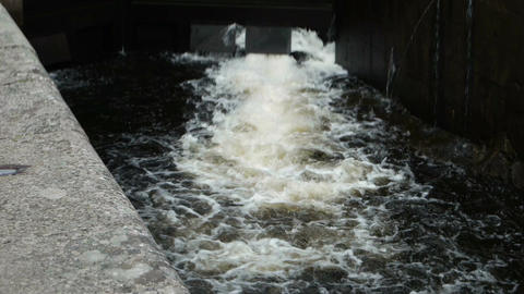 Lock of the Goeta Canal in Sweden Filmmaterial
