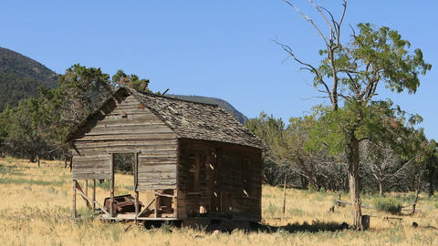 Abandoned old home farm mountain valley pan HD 373 Footage