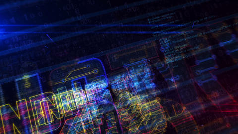 Industry 4.0 sign futuristic entry into cyberspace animation Animation