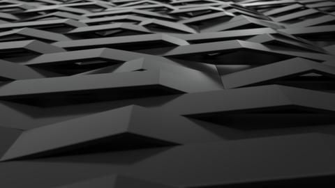 1051 3D rendering of black gloss plastic waves GIF