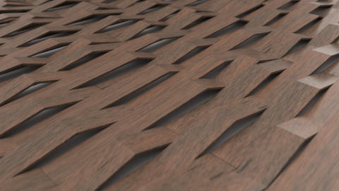 1070 3D rendering of wooden gloss plastic waves GIF
