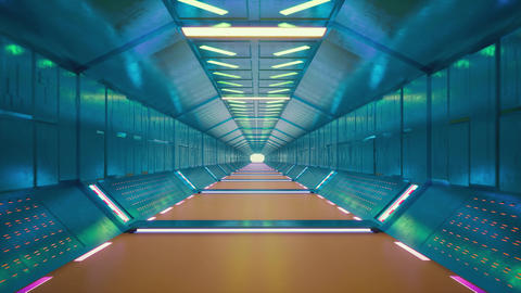 Futuristic tunnel on light background. Graphic abstract background. Empty space Live Action