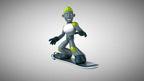 Robot surfing Animation