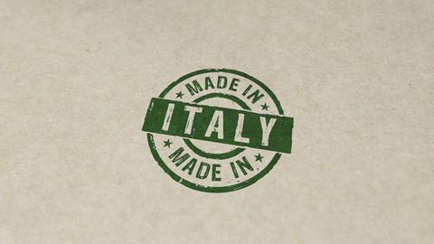 Made in Italy stamp and stamping animation Animation