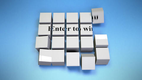 Enter to win-Cube Assembly Animation
