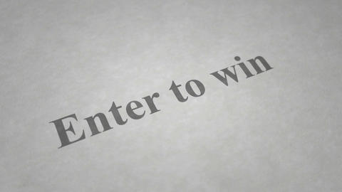 Enter to win-paint on text Animation