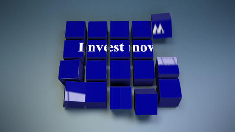 Invest now-Cube Assembly Animation