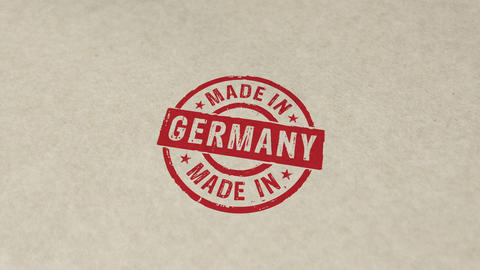 Made in Germany stamp and stamping animation Animation