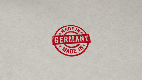 Made in Germany stamp and stamping loop animation Animation