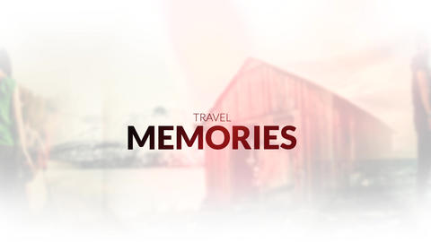 Travel Memories Slideshow 2 Apple Motion Template