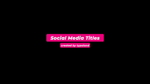 Social Media Titles After Effects Template