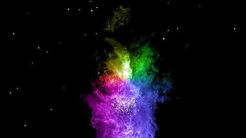 rainbow Explosion bomb smoke animation with alpha Animation