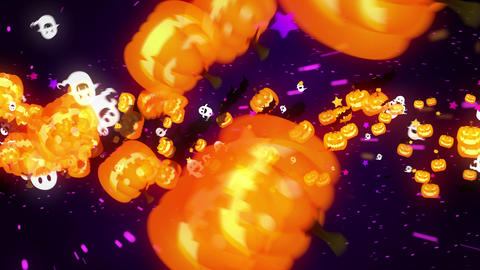 Halloween party,Purple,Particle CG Animation Animation