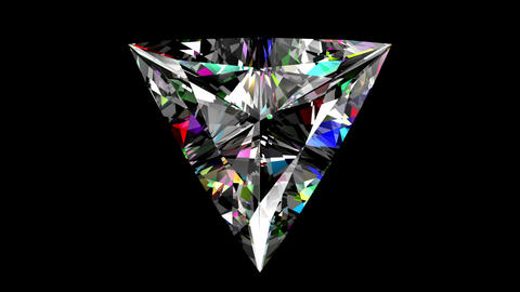 Iridescent Diamond Triangle. Looped. Alpha Matte Animation