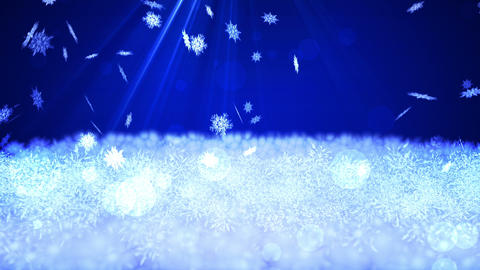 Spin of Snow Crystal,Snow Scean,CG Animation Animation