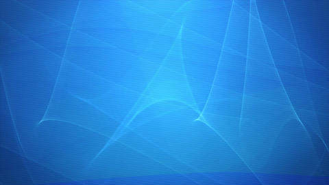 Abstract Blue Waving Lines Motion Background Loop Animation