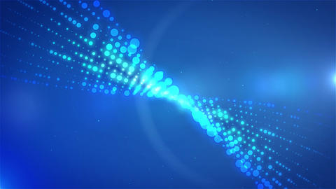 Blue Shine Waving Particles Motion Graphics Background Footage