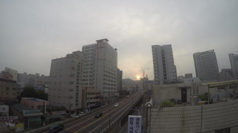 Sunrise of City 4K Live Action