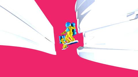 Astronauts flying - 3D Animation Animation