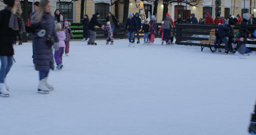 people skating on the rink Live Action