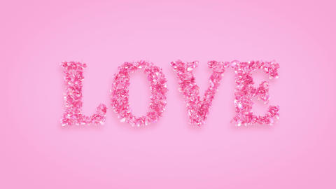 Love exploding with rose petals background Animation
