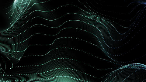 Seamless Loop Motion Background Waving Dots Texture Animation