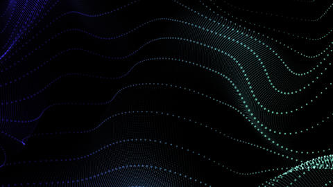 Seamless Loop Abstract Motion Background Waving Dots Texture Animation