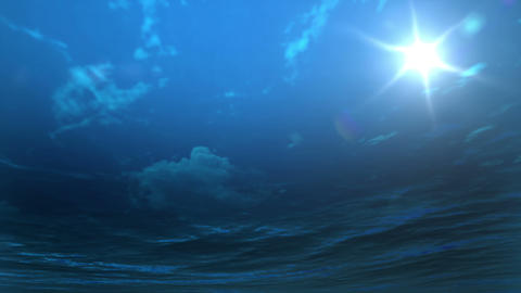 Underwater with cloudy sky Animation