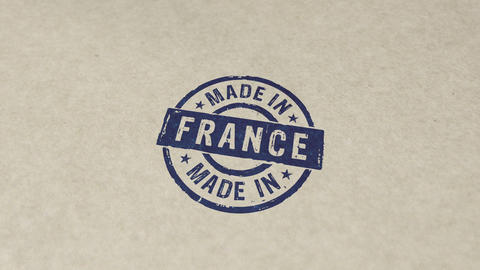 Made in France stamp and stamping animation Animation