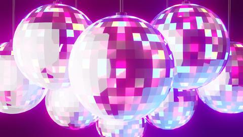 Disco balls on black background Animation