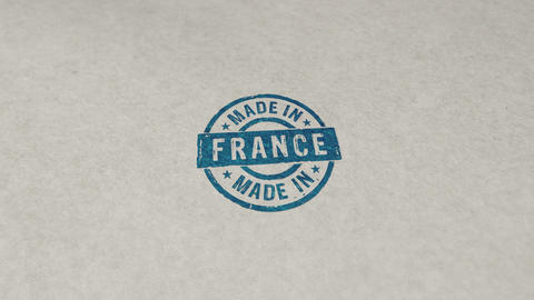 Made in France stamp and stamping loop animation Animation