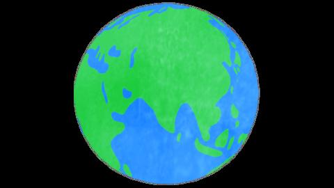 Earth Handwriting Animation