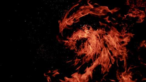 Explosion bomb smoke animation with alpha Animation