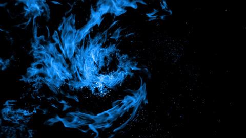 blue Explosion bomb smoke animation with alpha Animation