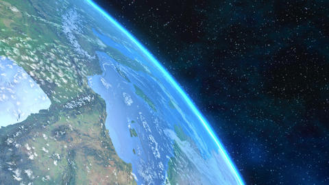 Spectacular close-up view of the Earth Animation