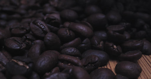 Macro Probe Shot of Coffee Beans Live Action