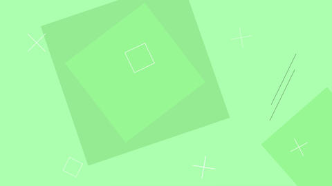 Simple looped green background with geometric shapes Animation