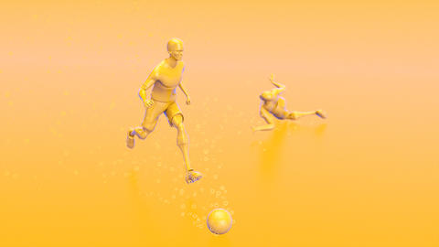 3D motion design of a football game Animation