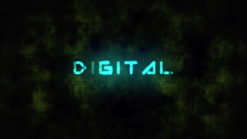Techno DIGITAL text animation Live Action