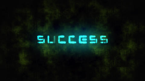 Techno SUCCESS text animation Live Action